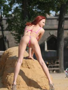 Glamour girl wears bikini