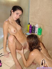Lesbian gfs in shower