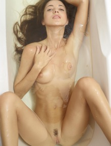 Naked Beauty in bathroom