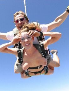 Naked skydiving part 2