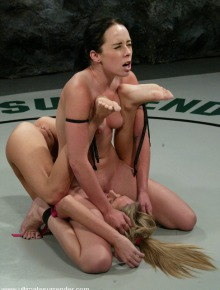 Nude sexually wrestling