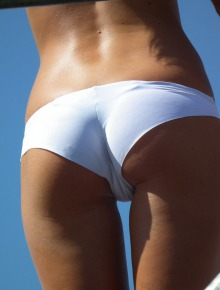 Party chicks in white panties