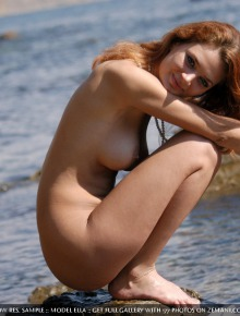 Sexual cutie near the sea