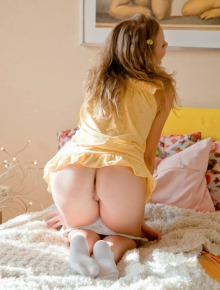 Sexy baby showing tight pussy and bumpy ass