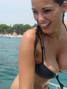 Sexy breasted Gf wear bikini