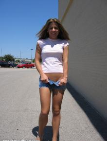 Sexy chick outside