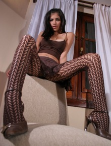 Tere shows her long legs