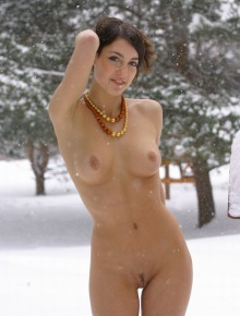 Winter nude angel
