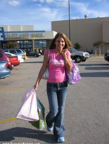 Babe goes shopping
