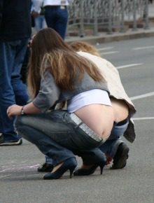 Sexy candid asses